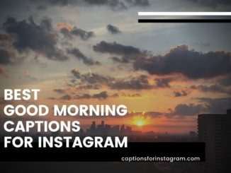 101+ Best Good Morning Captions for Instagram, Facebook