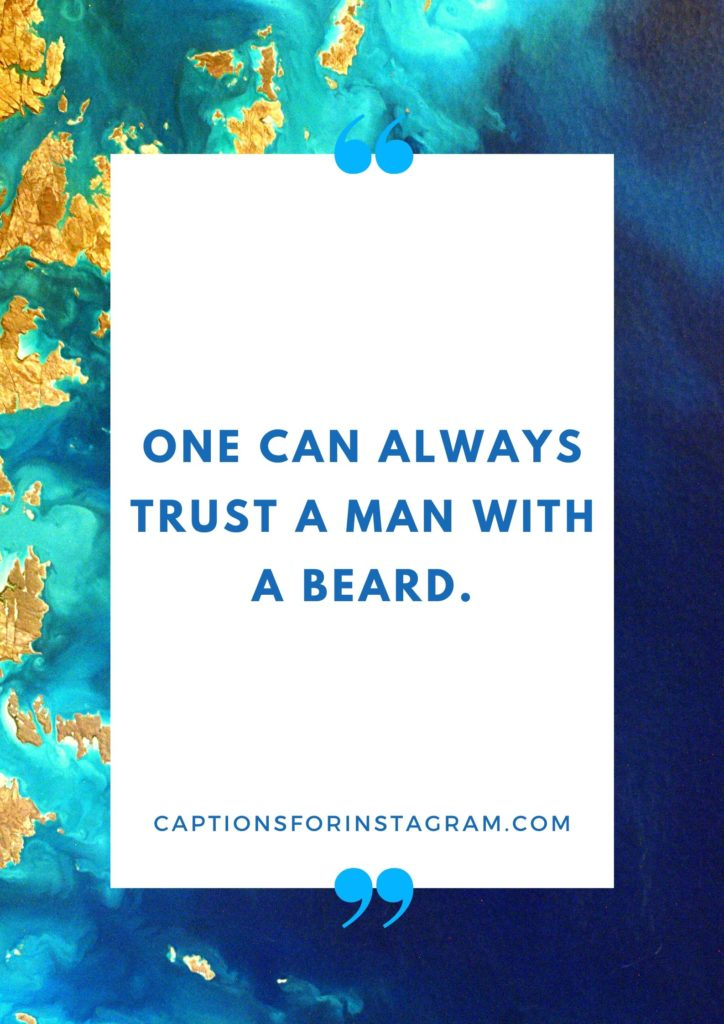 Quotes and Caption on Beard For Instagram