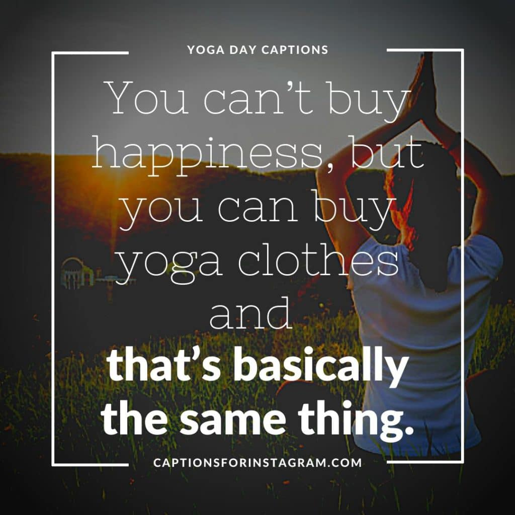 Yoga captions and Quotes