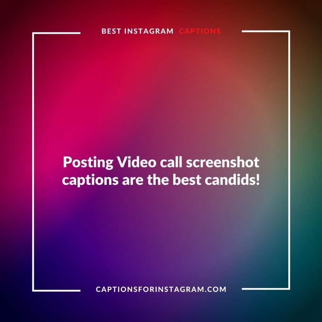 Video Call screenshot captions
