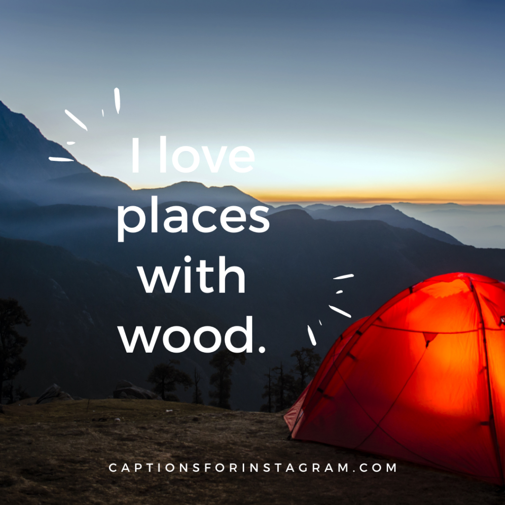 I love places with wood.