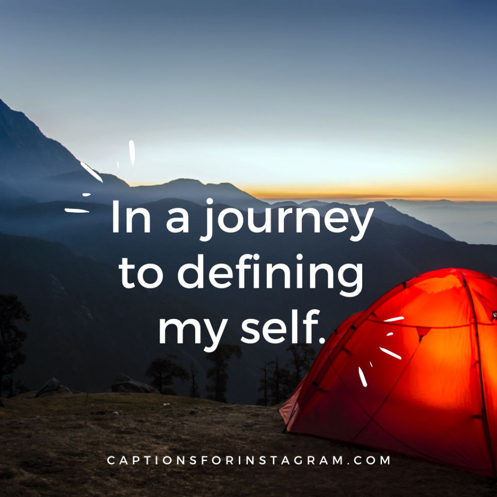 In a journey to defining my self.