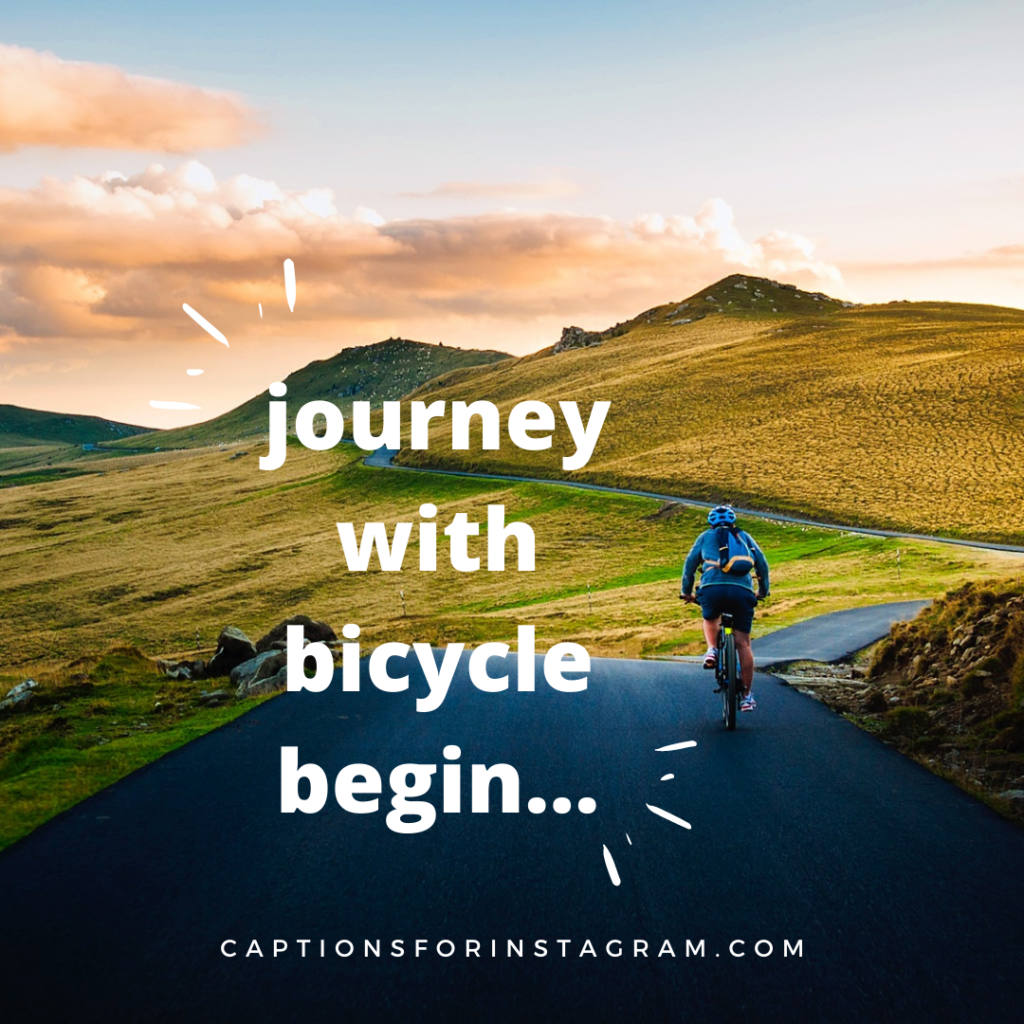 journey with bicycle begin...