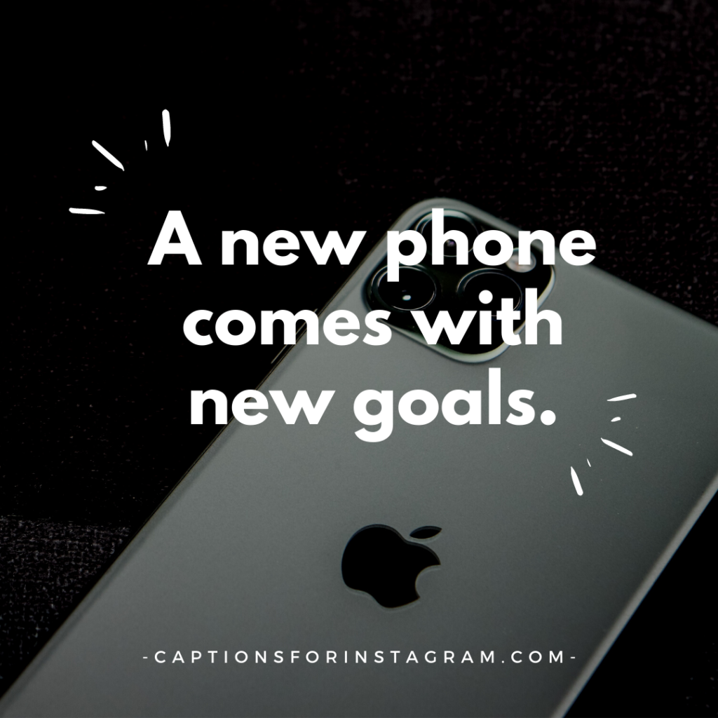 Captions for new iPhone
